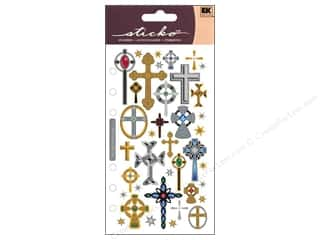 Religious Subjects Stickers: EK Sticko Stickers Crosses