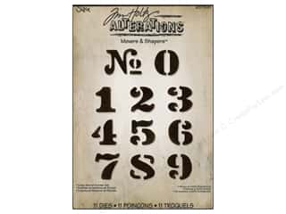 Dies ABC & 123: Sizzix Movers & Shapers Magnetic Die Set 11PK Cargo Stencil Number by Tim Holtz