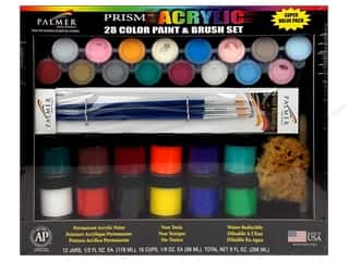 Paint Brushes: Palmer Prism Acrylic Paint & Brush Super Value Set