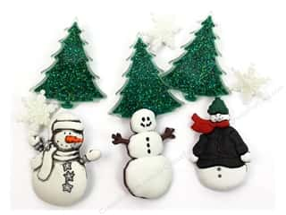 Craft Embellishments Winter: Jesse James Dress It Up Embellishments Christmas Collection Snowy Friends