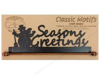 Ackfeld Mfg. Company Quilt Racks / Quilt Hangers: Ackfeld Craft Holders 12 in. Seasons Greetings Silver