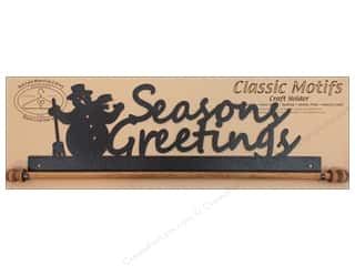 Ackfeld Mfg. Company Ackfeld Over Door Hangers: Ackfeld Craft Holders 16 in. Seasons Greetings Silver