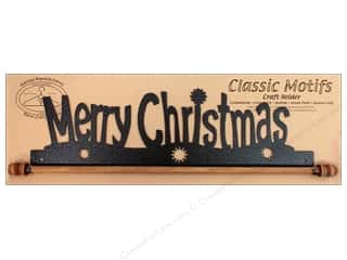 Ackfeld Mfg. Company Black: Ackfeld Craft Holders 16 in. Merry Christmas Silver