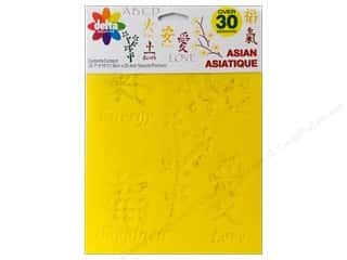 Love & Romance paper dimensions: Delta Stencil Mania Value Pack Asian 3 pc.