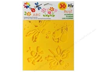 Glass ABC & 123: Delta Stencil Mania Value Pack Flowers 3 pc.