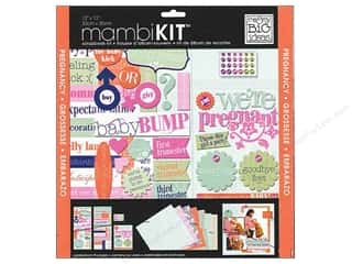 "Chipboard MAMBI Kit Scrapbook: Me&My Big Ideas Kit Scrapbook 12""x 12"" We're Pregnant Hello Belly"
