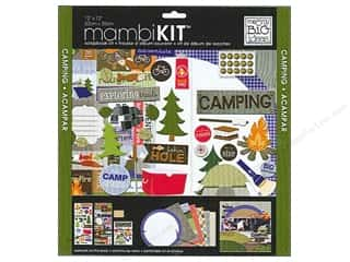 "SRM Stickers $10 - $15: Me&My Big Ideas Kit Scrapbook 12""x 12"" Camping Fun"