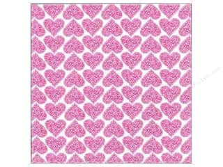 MAMBI Cardstock 12x12 Specialty BCRF Ribbon Hearts (25 piece)