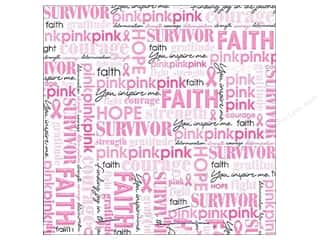 MAMBI Cardstock 12x12 Specialty BCRF Survivor Word (25 piece)
