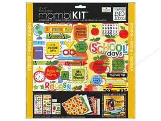 "Brads Scrapbooking Kits / Page Kits: Me&My Big Ideas Kit Scrapbook 12""x 12"" Learning School"