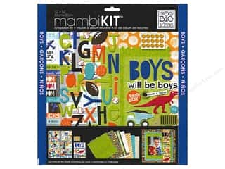 "Me&My Big Ideas Kit Scrapbook 12""x 12"" Boys Will Be Boys"
