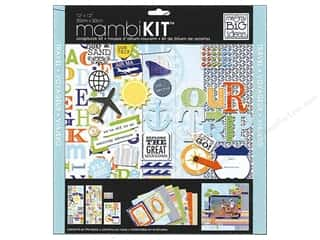 "Scrapbooking Stickers: Me&My Big Ideas Kit Scrapbook 12""x 12"" Explore Our Trip"