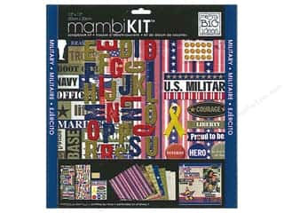"Scrapbooking $8 - $15: Me&My Big Ideas Kit Scrapbook 12""x 12"" US Military"