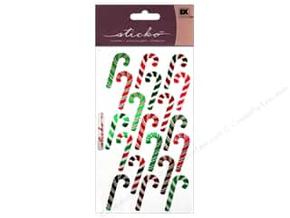 Food EK Sticko Stickers: EK Sticko Stickers Candy Canes