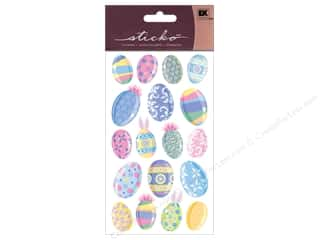 EK Sticko Sticker Multicolor Easter Eggs