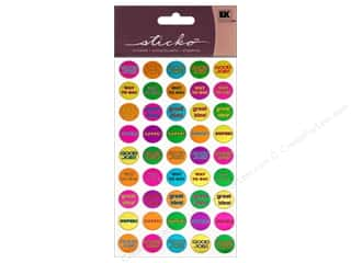 stickers  -3D -cardstock -fabric: EK Sticko Stickers Circle Awards