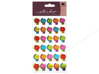 Back To School EK Sticko Stickers: EK Sticko Stickers Repeats Globe