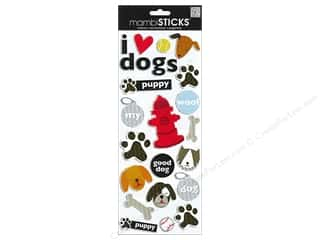 MAMBI Sticker Puffy I Heart Dogs