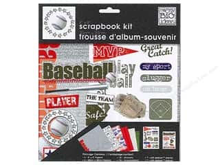 "Me&My Big Ideas Kit Scrapbook 8""x 8"" Baseball"