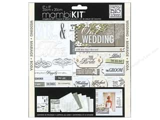 "Brads Scrapbooking Kits / Page Kits: Me&My Big Ideas Kit Scrapbook 8""x 8"" Our Wedding"