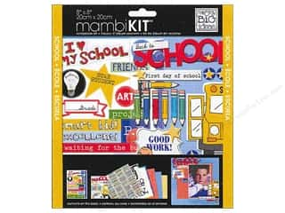 "Me&My Big Ideas Kit Scrapbook 8""x 8"" A Kid Like Me I Heart My School"