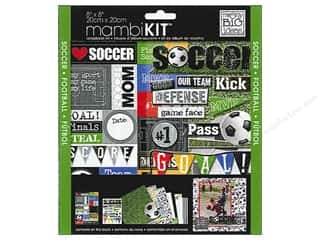 Scrapbooking Sale Me & My Big Ideas Kits: MAMBI Kit Scrapbook 8x8 I Heart Soccer