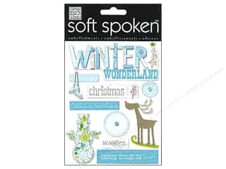 Baby Winter Wonderland: Me&My Big Ideas Sticker Soft Spoken Blue Winter Wonderland