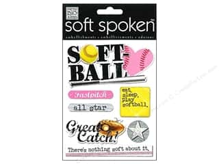 Gloves Grey: Me&My Big Ideas Sticker Soft Spoken Softball Fast Pitch