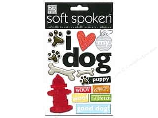 MAMBI Sticker Soft Spoken I Heart My Dog PawPrints