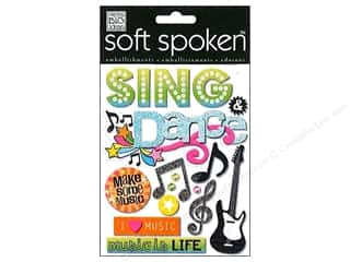 Shadowbox Frames Music & Instruments: Me&My Big Ideas Sticker Soft Spoken Sing and Dance Spotlight