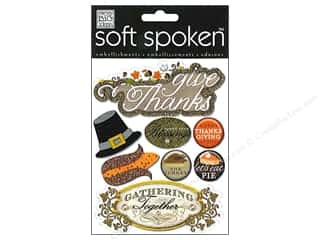 MAMBI Sticker Soft Spoken Give Thanks Pilgrim