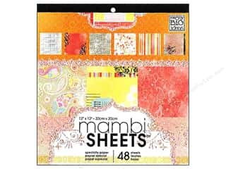 MAMBI Sheets Cardstock Pad 12 x 12 in. Sugar & Spice