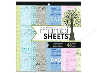 Holiday Sale: MAMBI Sheets Cdstk Pad 12x12 Special Just My Famly