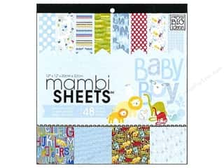 MAMBI Sheets Cdstk Pad 12x12 Special Oh Baby Boy