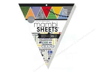 MAMBI Sheets Cdstk Pad 13&quot; Banner Sports