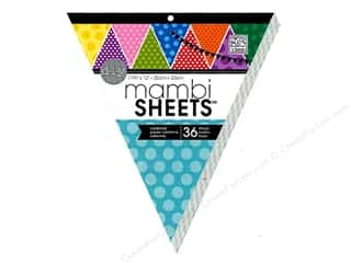 MAMBI Sheets Cdstk Pad 13&quot; Banner PolkaDot Primary