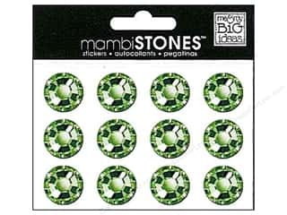 MAMBI Stones Rhinestone Stickers 18mm Green