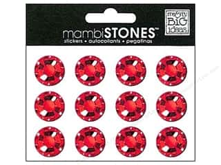 MAMBI Stones Rhinestone Stickers 18mm Red