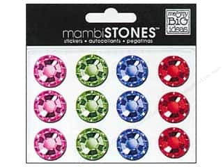 MAMBI Stones Rhinestone Stickers 18mm Bright Multi