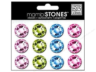 MAMBI Stones Rhinestone Stickers 18mm PL/LG/LBLP (3 set)