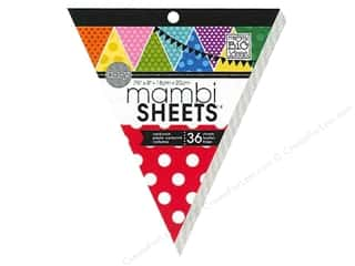 MAMBI Sheets Cdstk Pad 8&quot; Banner Polka dot Primary