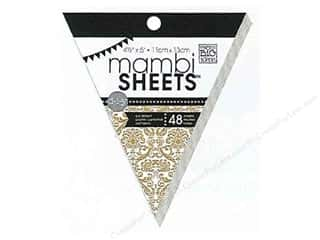 MAMBI Sheets Cdstk Pad 5&quot; Banner Kraft &amp; White