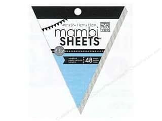 MAMBI Sheets Cdstk Pad 5&quot; Banner Solid Texture