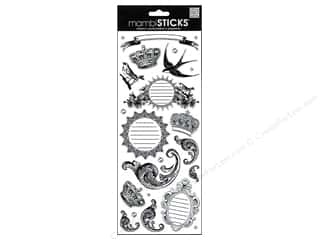 MAMBI Sticker Specialty BW Birds & Crowns