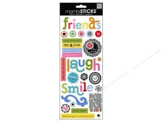 Staple Clear: Me&My Big Ideas Sticker Friends Words
