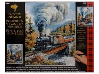 Weekly Specials Painting: Plaid Paint By Number 16 x 20 in. Steam Locomotive