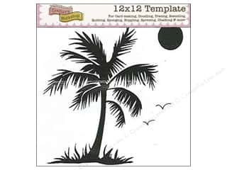 The Crafters Workshop Template 12x12 Palm Tree