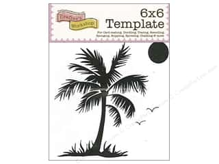 The Crafters Workshop Template 6x6 Palm Tree