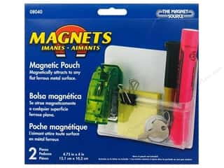 "Magnets Organizers: The Magnet Source Magnet Magnetic Pouch 4.75""x 4"" 2pc"