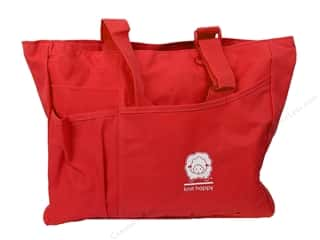 Happy Lines Tote Knit Bright Bag Red